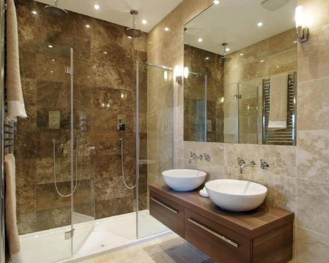 Baño Chocolate Blanco:Ensuite Bathroom Design Ideas
