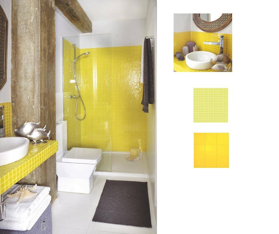 Cuarto de ba o amarillo archivos cambiar ba era por - Cuartos de bano con plato de ducha ...