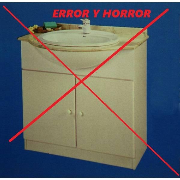 Armarios De Baño Segunda Mano:Mueble de baño obsoleto y anti-estético