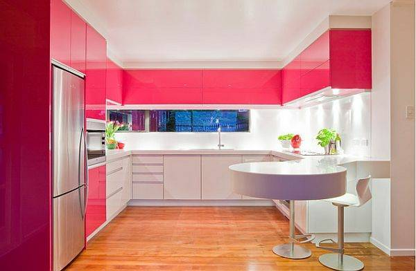 Cocina y ba o rosa dise o de cocina y ba o en rosa for Disenos para banos y cocinas