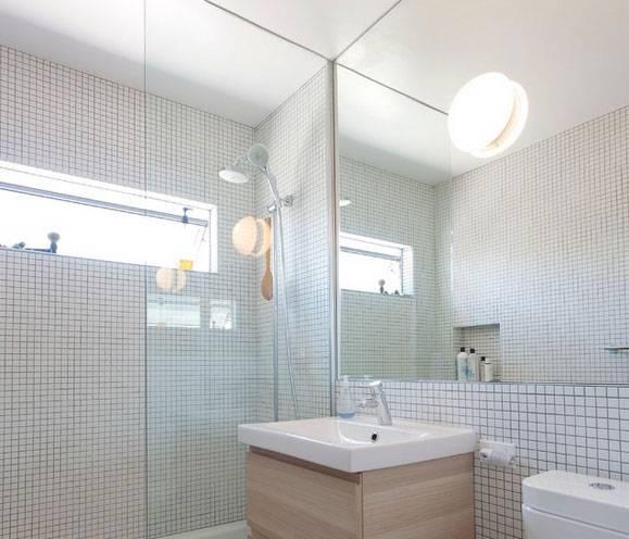 Armarios De Baño Grandes:Espejo extra-grande para ampliar su cuarto de baño