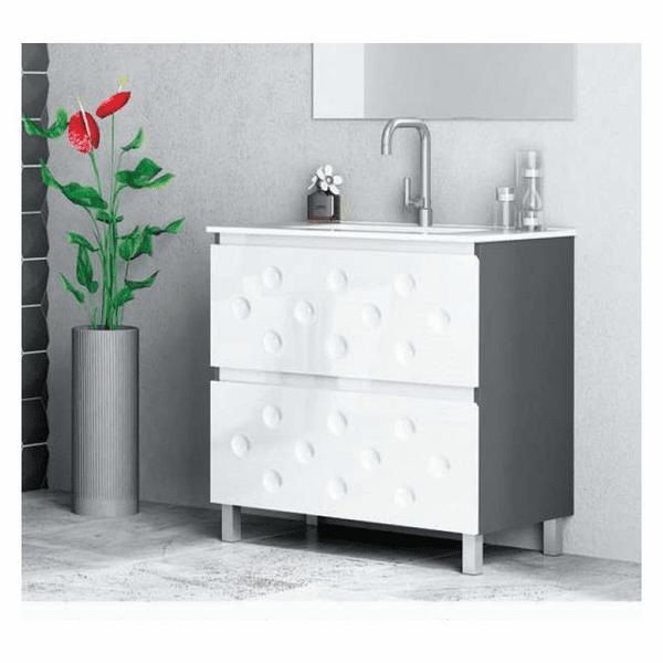 Muebles de ba o 60 cm for Conjunto accesorios bano baratos