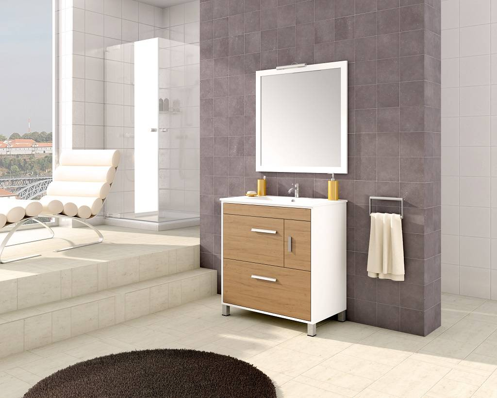 Conjunto mueble de ba o eva 350 for Mueble columna bano barato